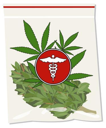 social issues: marijuana medica vettore