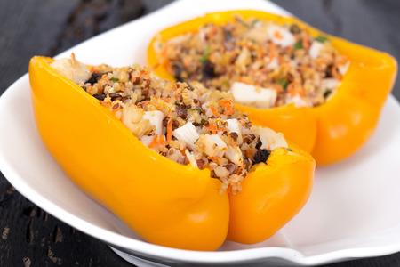 Quinoa chicken stuffed peppers