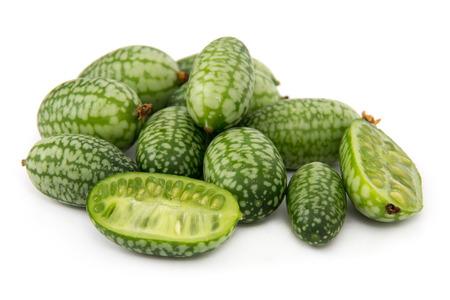 Melothria scabra aka cucamelon or mousemelon, mexican fruit isolated
