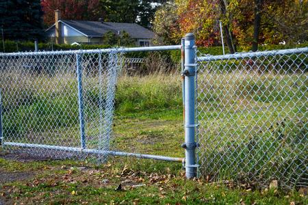 broken open fence