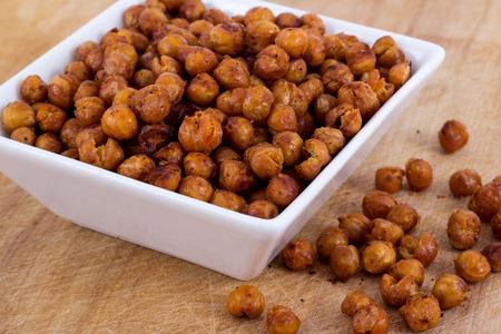 Roasted Seasoned Chick Peas Reklamní fotografie