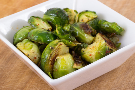 garlic roasted brussels sprouts photo