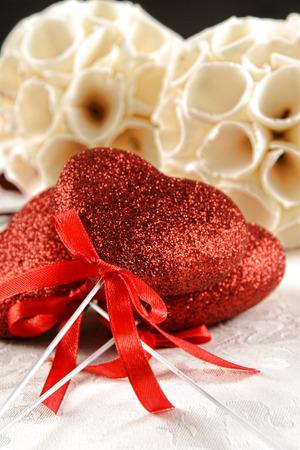 s day: \\\\ \\ Valentine \ s day heart shape ornament Stock Photo
