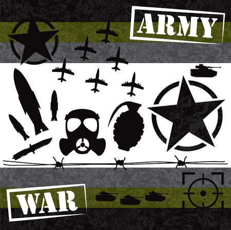 war graphic element design Vector