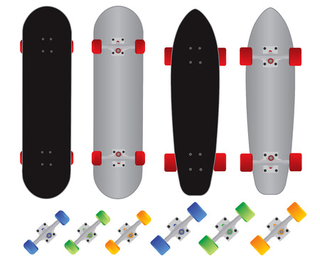 frontage: penny skateboard and skateboard vector