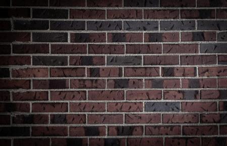 Old dark brick wall background photo
