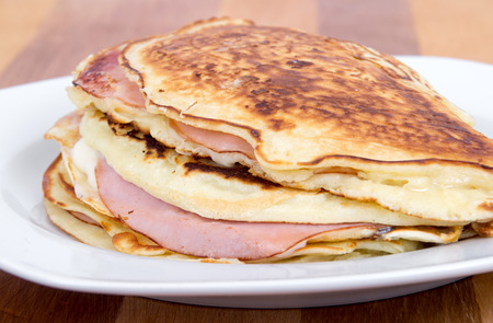 ham and cheese pancake breakfast