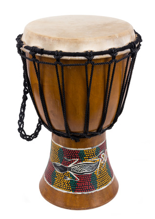 djembe drum: african djembe drum isolated over a white background