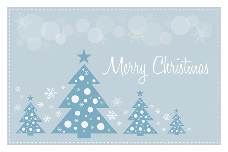 version: merry christmas greeting card illustration text is outline version 10 Illustration