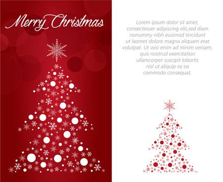 vrolijke kerst wens kaart illustratie