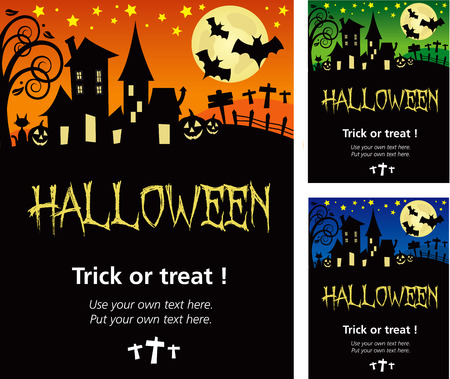 Halloween invitation poster or card illustration design, in illustrator V.10 with drop shadow and text outline on a separate layer.