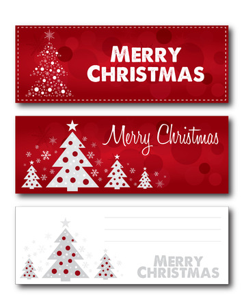 version: Merry Christmas banner illustration design text outline no drop shadow on the .eps  version 10 Illustration