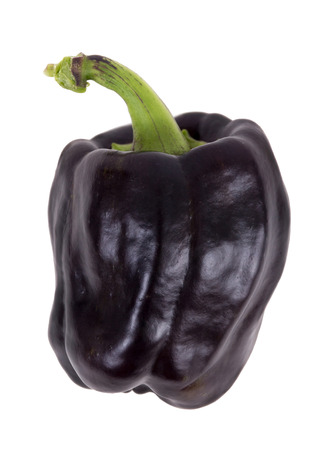 purple bell pepper isolated over white background