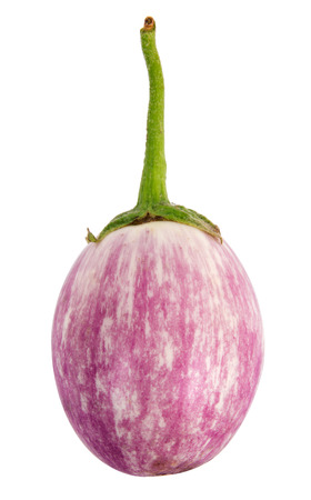 heirloom: heirloom eggplant isolated on white background