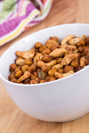 snack: spicy homemade trail mix snack Stock Photo