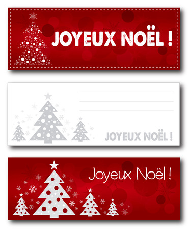 version: French Merry Christmas banner illustration design text outline no drop shadow on the .eps version 10