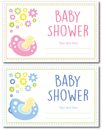 human gender: Baby shower card girl and boy gender design