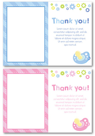 thank you baby card design  Illustration