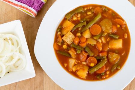 Vegetable stew bowl or gibelotte quebec meal