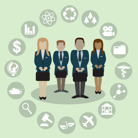 Human Resources with professional occupation group of people illustration vector