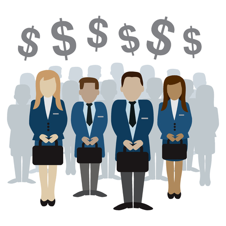 business and finance related people and silhouette vector illustration eps 10 Illustration