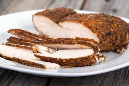 dry rub turkey breast sliced