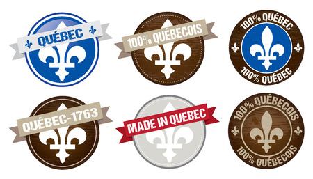set of Quebec province labels designs