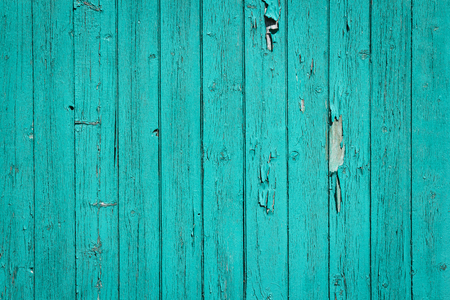 crannied: turquoise old wood background Stock Photo