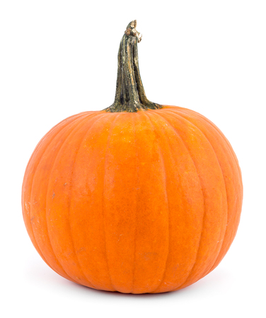 perfect pumpkin over white background Stock Photo