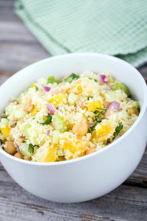 citrus couscous salad with chick peas