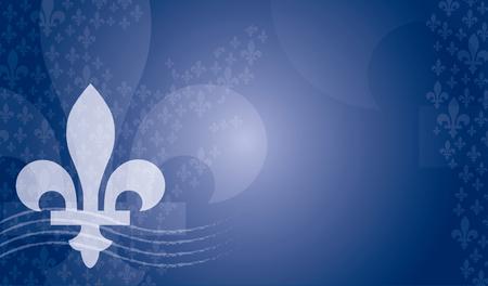 Quebec province of Canada emblem over blue background Illustration