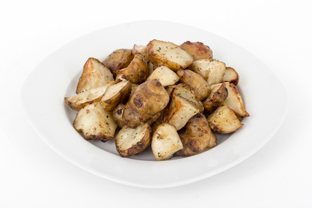 diced homemade roasted jerusalem artichoke sunchoke dish