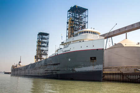 Ojibway bulk carrier ship at Sorel-Tracy port. 新聞圖片