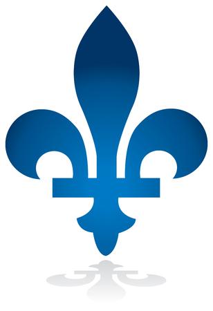 Quebec province of Canada emblem fleur de lys symbol vector