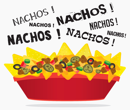 Loaded cheese nacho plate design Stock fotó - 95974656