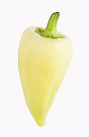 feher ozon unripe paprika pepper over white background