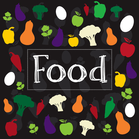 Food word creative colorful design illustration Ilustração