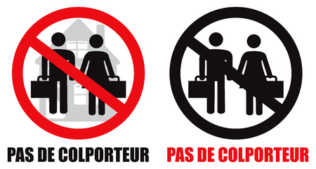 Français - French No soliciting allowed home symbol sign vector