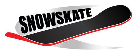 snowskate winter extreme board sport design
