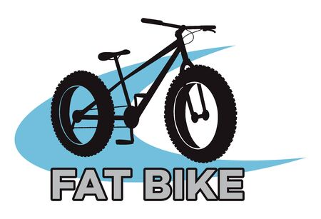 fat bike mountain bicycle sport emblem vector