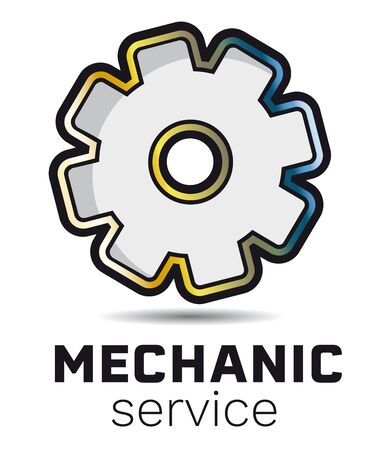 Mechanic service maintenance icon design vector