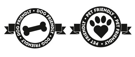 pet and dog friendly icon symbol badge sticker