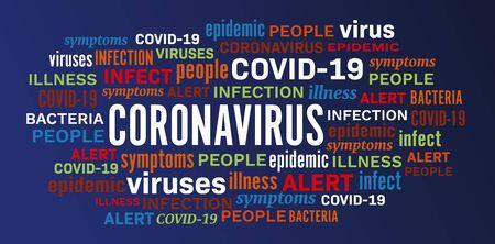 Coronavirus disease epidemic illness word tag cloud vector