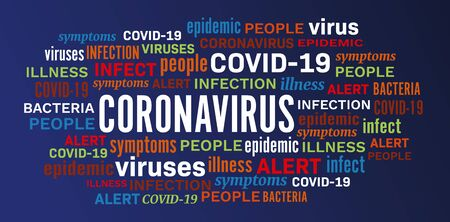 Coronavirus disease epidemic illness word tag cloud vector