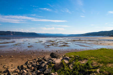 bay in Saguenay Quebec Canada summer day