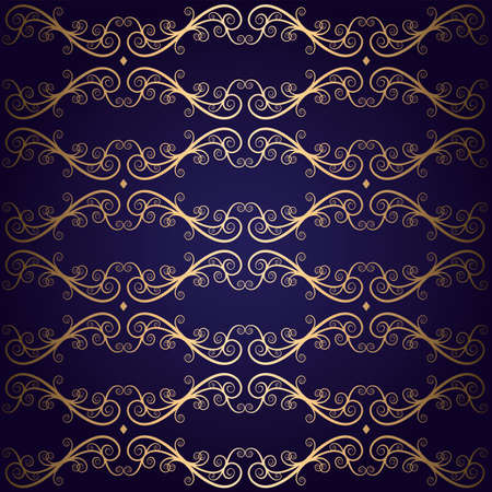 royal lace seamless pattern purple and gold vector background Ilustração