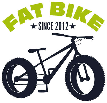 fat bike mountain bicycle sport pictogram vector illustration