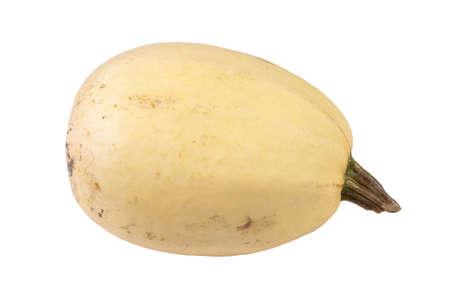 Spaghetti squash or vegetable spaghetti is a group of cultivars of Cucurbita on white background