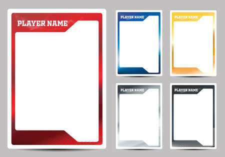 Hockey player trading card frame border template design flyer