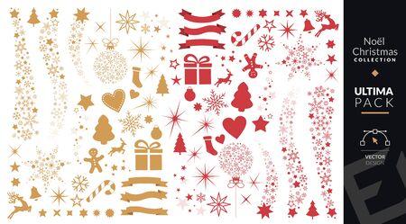 Christmas decoration set Ilustrace